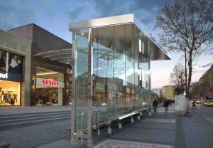 KUZGUN Mobilier urban stradal Statii de autobuz din otel inoxidabil1