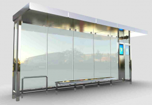 KUZGUN Mobilier urban stradal Statii de autobuz din otel inoxidabil0
