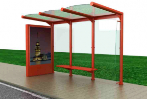 PAPATYA Mobilier urban stradal Statii de autobuz din metal vopsit0