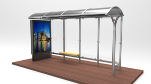 ZAMBAK Mobilier urban stradal Statii de autobuz din metal vopsit0