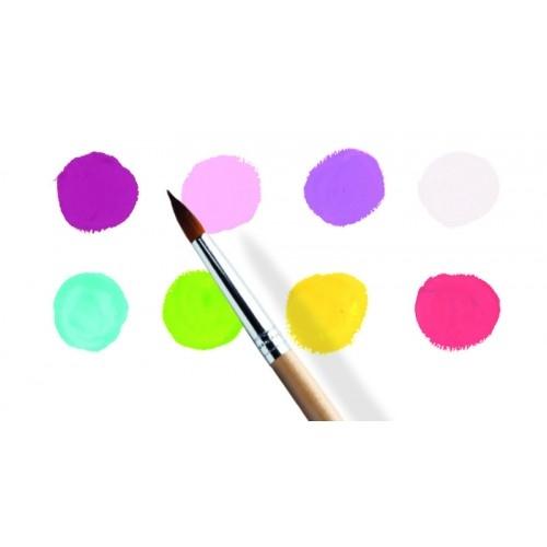 8 Culori guașe Djeco, nuanțe vesele 1