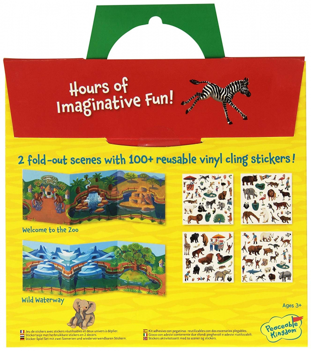At the Zoo Reusable Sticker Tote - La ZOO, gentuță cu abțibilduri reutilizabile 1