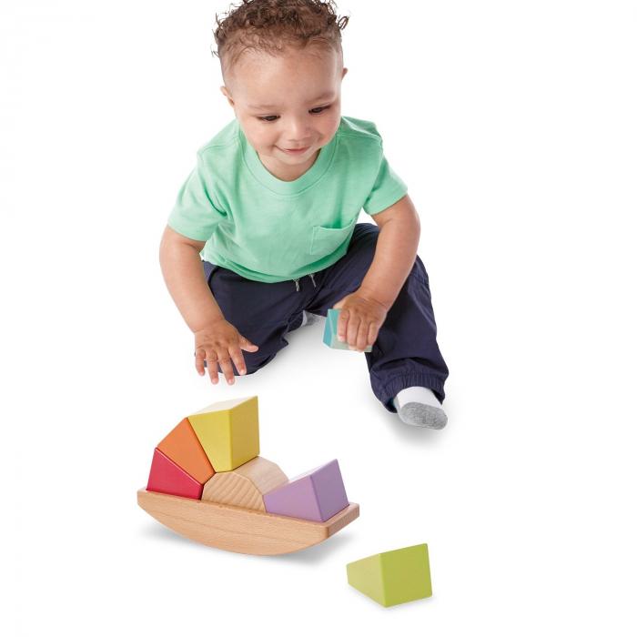 Babu™ Rocker, jucărie curcubeu din lemn 2
