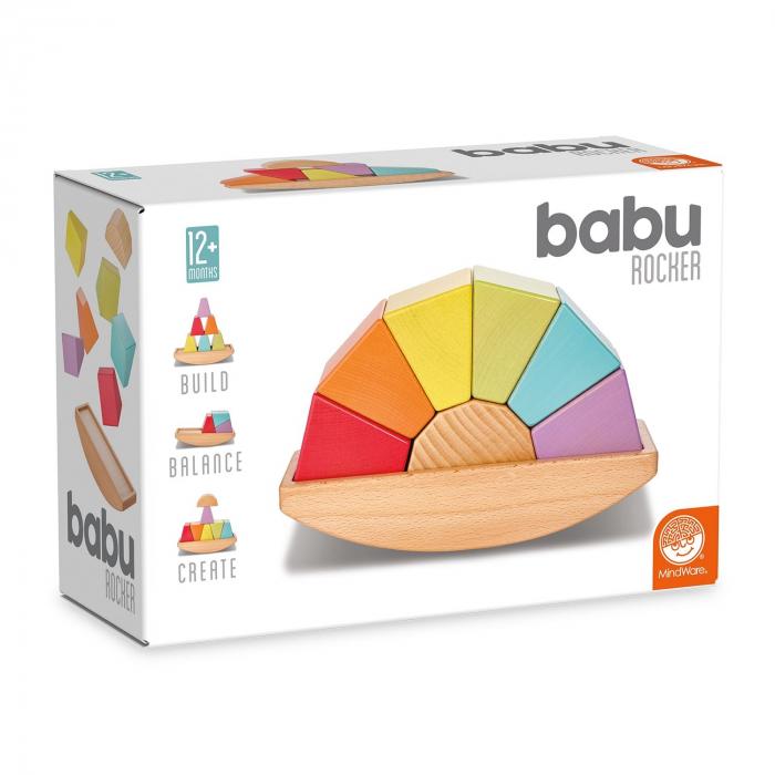 Babu™ Rocker, jucărie curcubeu din lemn 0