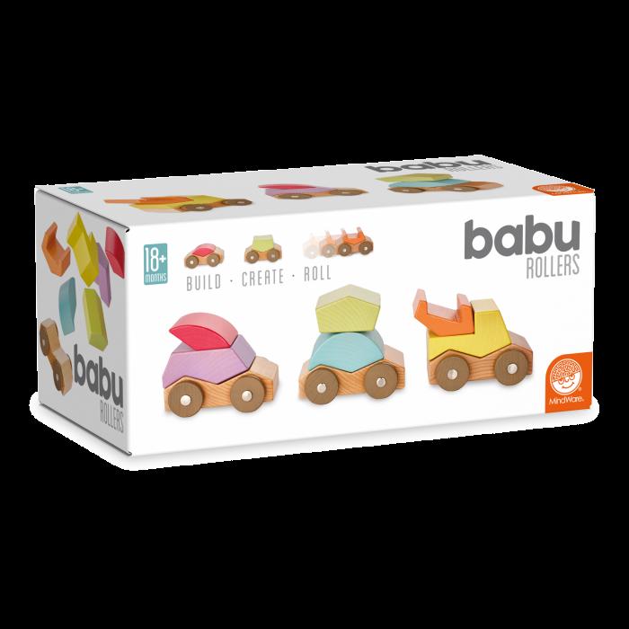 Babu ™ Rollers, set de mașinuțe din lemn 0