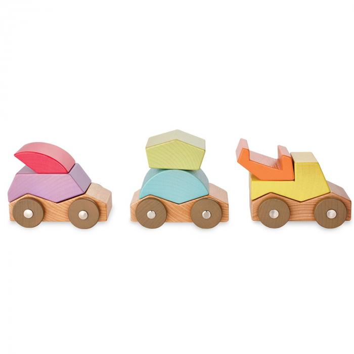 Babu ™ Rollers, set de mașinuțe din lemn 2