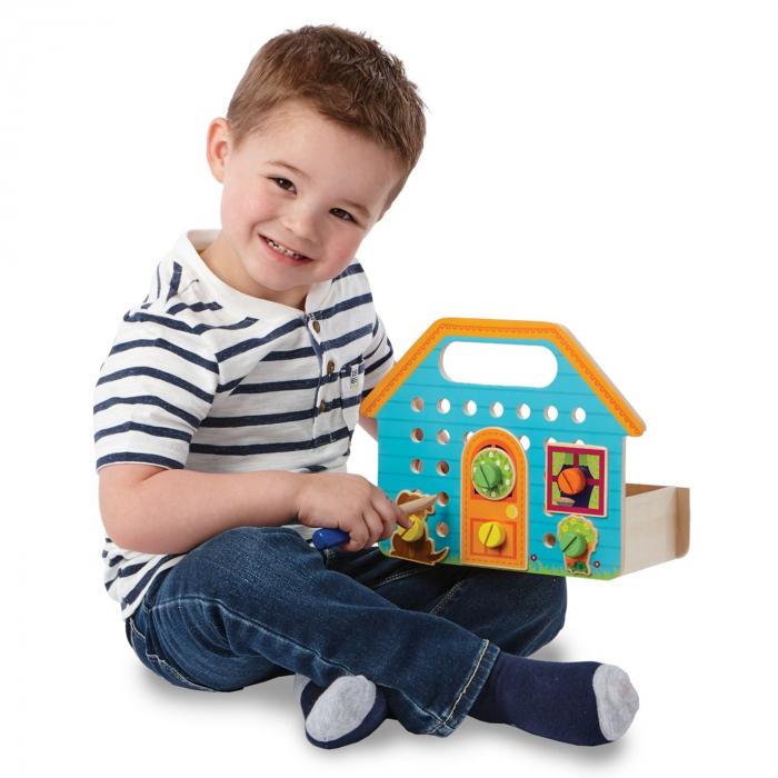 Builder Box House, set de construcție cu piese din lemn 2