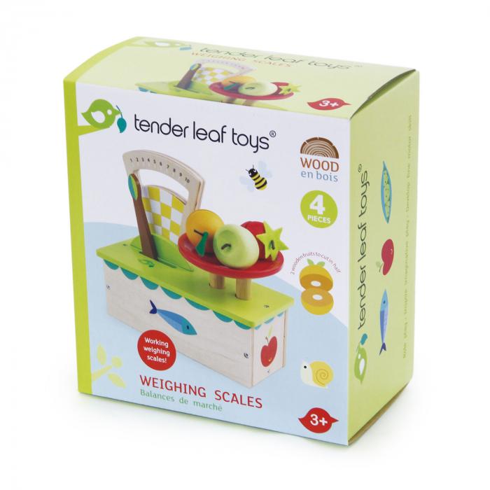 Cântar , din lemn premium - Weighing Scales - 4 piese - Tender Leaf Toys [0]