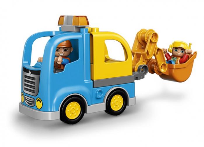 Camion si excavator pe senile LEGO DUPLO  (10812) 3