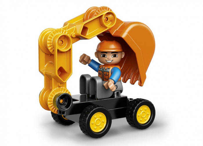 Camion si excavator pe senile LEGO DUPLO  (10812) 4