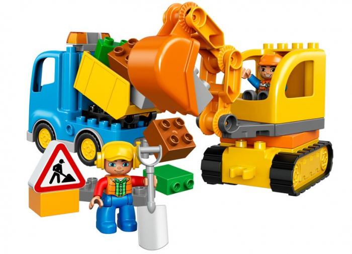 Camion si excavator pe senile LEGO DUPLO  (10812) 2