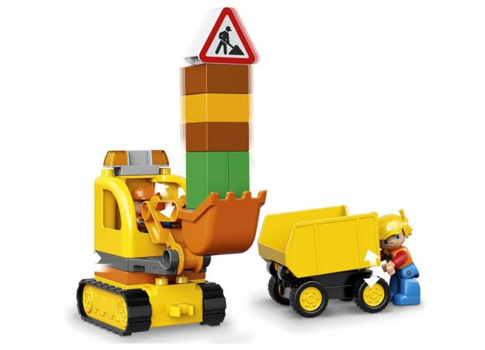 Camion si excavator pe senile LEGO DUPLO  (10812) 5