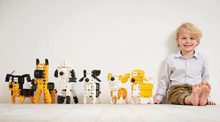 Set de construit Clicformers- Catei prietenosi, 74 piese 5
