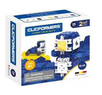 Set de construit Clicformers- Craft albastru, 25 de piese 0