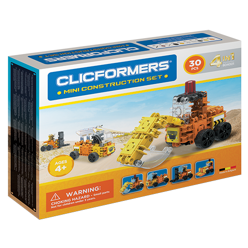 Set de construit Clicformers- Mini set cu vehicule de santier 0