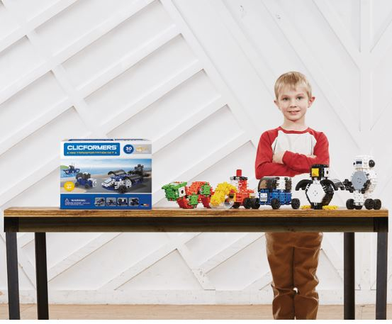 Set de construit Clicformers-Mini Transporter 30 piese 5