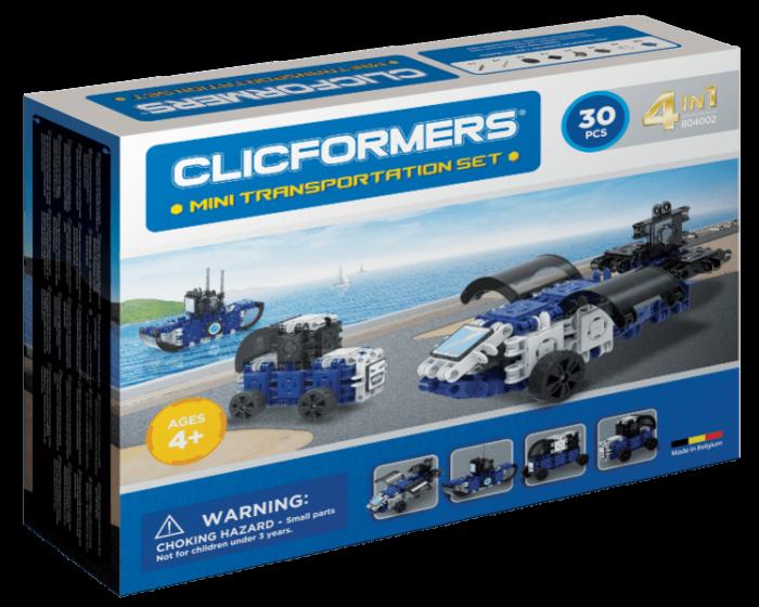 Set de construit Clicformers-Mini Transporter 30 piese 0
