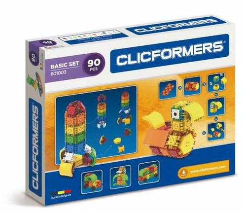 Set de construit Clicformers-Santier, 74 piese 0