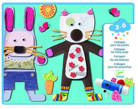 Pachet creativ iepuresc pentru 3-6 ani - animale cu bucle și colaje cu pisici și iepurași 0