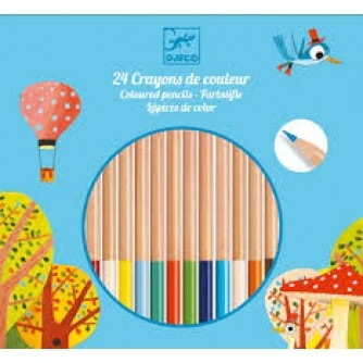 Creioane colorate natur Djeco 0