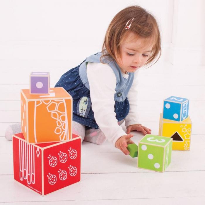 Cuburi colorate pastel 3