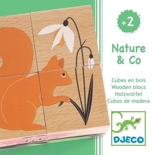 Cuburi din lemn Natura Djeco 0