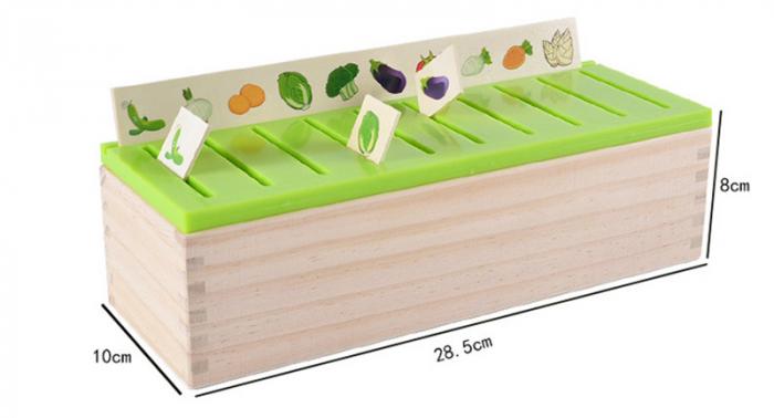 Joc asociere şi sortare - Cutie Montessori cu 88 piese din lemn 1