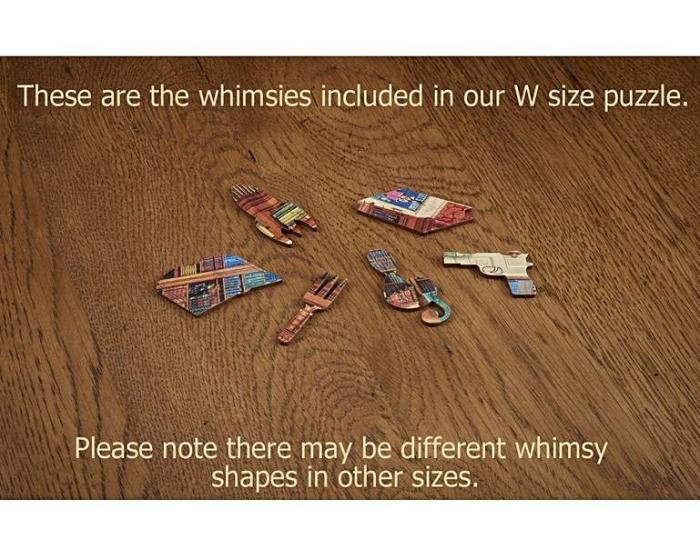 Dorința din bibliotecă, puzzle din lemn Wentworth 2