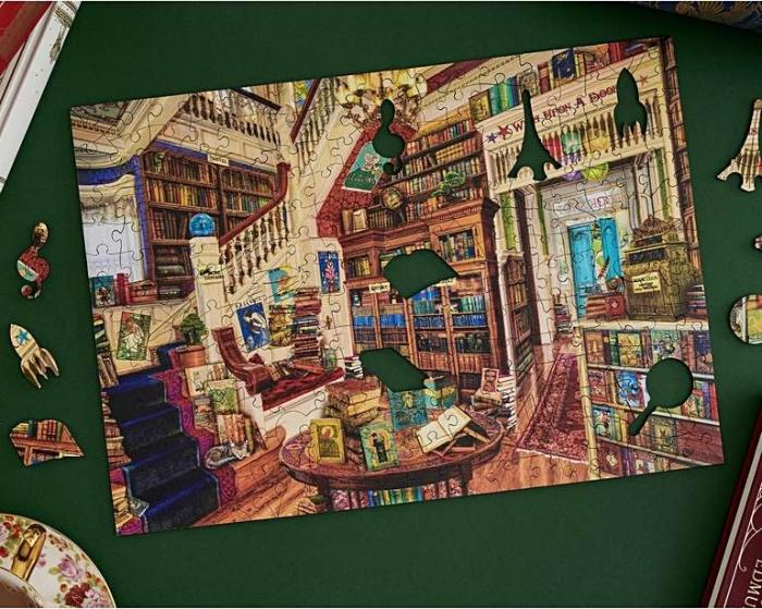 Dorința din bibliotecă, puzzle din lemn Wentworth 1
