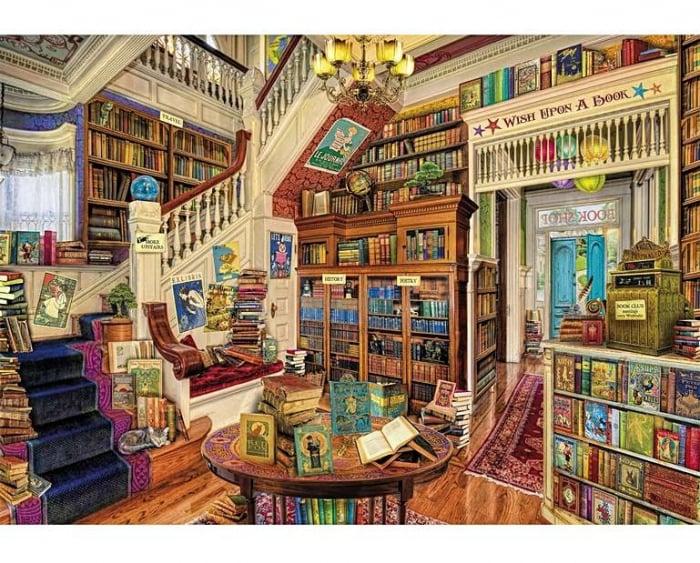 Dorința din bibliotecă, puzzle din lemn Wentworth 0
