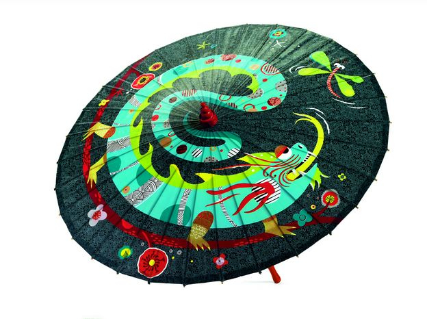 Umbrela pentru copii dragonul si libelula Djeco 0