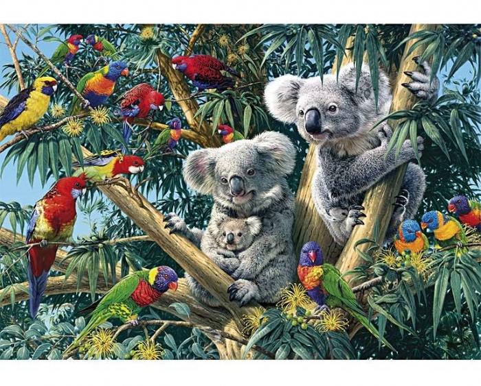 Familia de koala, puzzle din lemn Wentworth 0