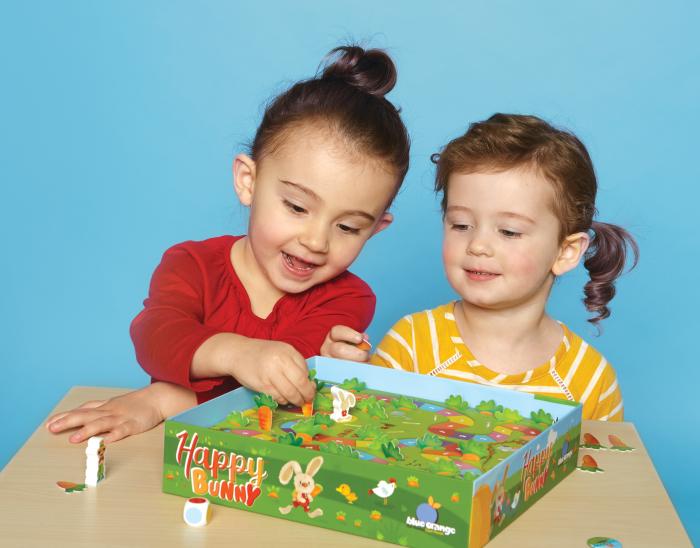 1+1 gratuit, Iepurașul jucăuș și melcii vitezomani - pachet jocuri educative pentru 3-4 ani - Happy Bunny și Vroom Vroom 1
