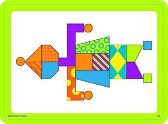 Imagination patterns, joc de construcție din lemn, cu piese magentice 4