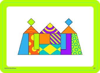 Imagination patterns, joc de construcție din lemn, cu piese magentice 5