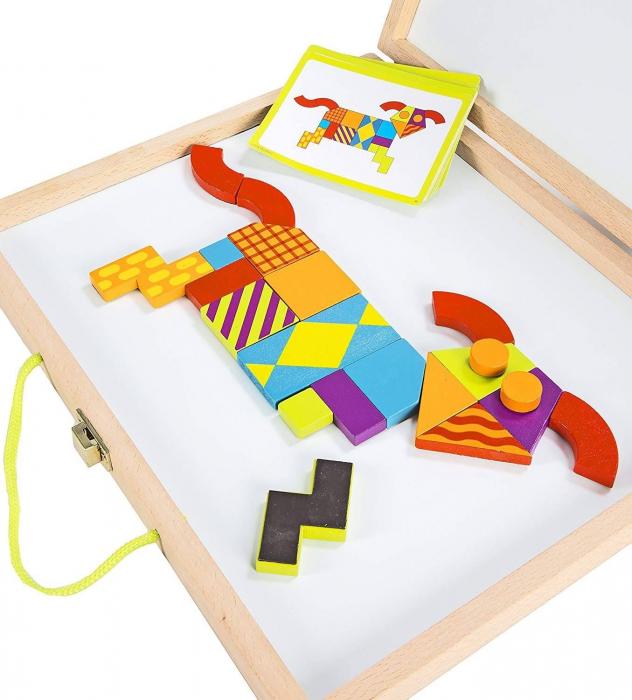 Imagination patterns, joc de construcție din lemn, cu piese magentice 2