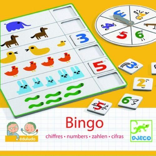 Joc Bingo Djeco- copiii învaţă să numere 0