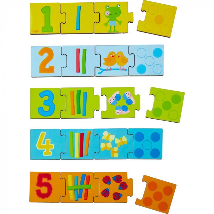 Joc de potrivire de tip puzzle – Numerele - Haba 1