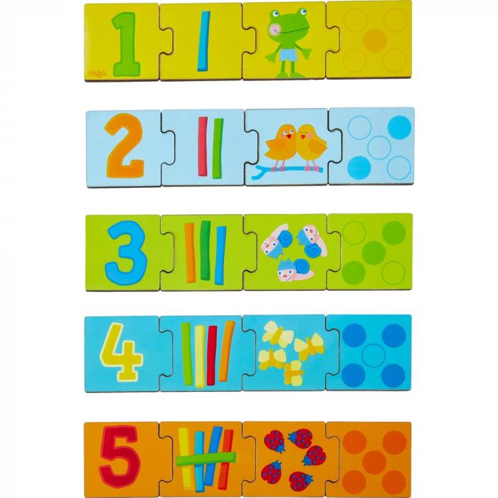 Joc de potrivire de tip puzzle – Numerele - Haba 0