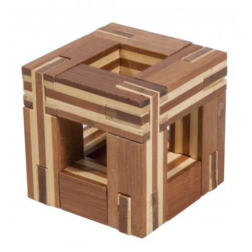 Joc logic IQ din lemn bambus Magic frame 0
