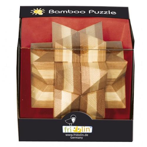 Joc logic IQ din lemn bambus Star 0