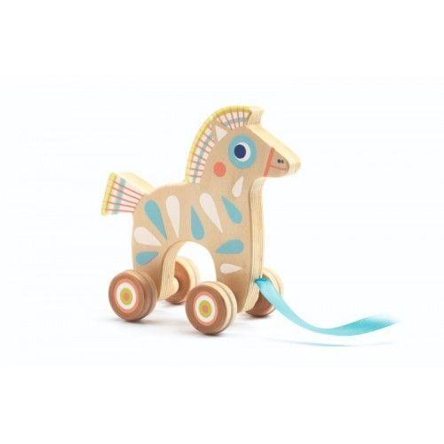 Jucărie de tras Căluț Djeco [0]