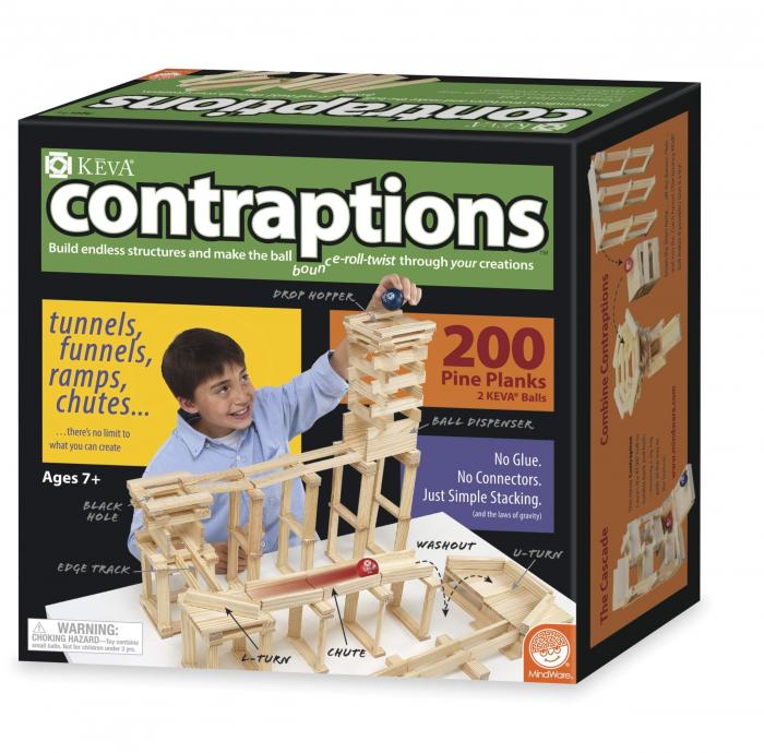 KEVA Contraptions 200 Plank Set, joc de construcție cu piese de lemn 0