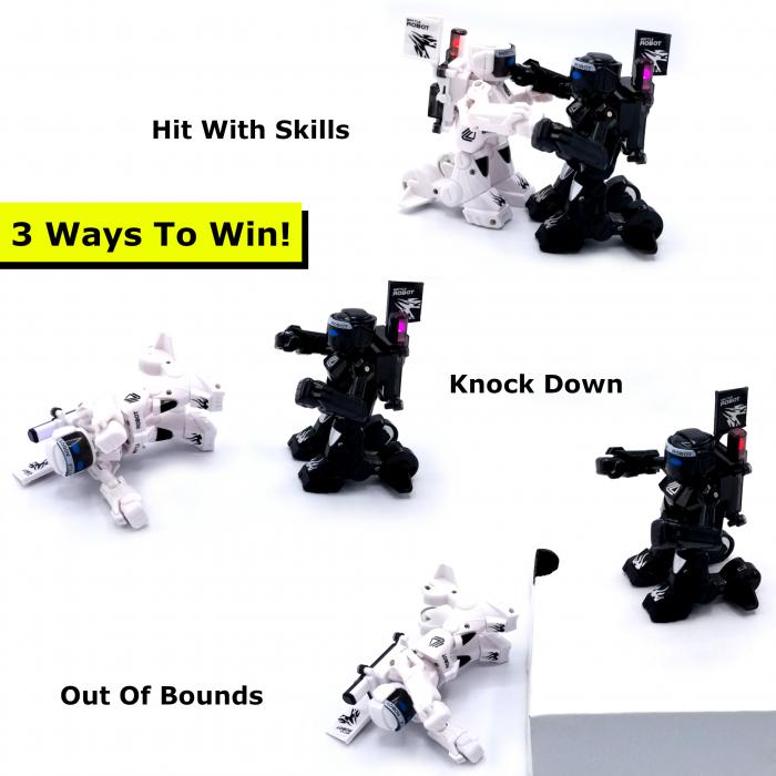 Set de 2 roboți cu telecomandă, pentru copii - KO Bot 6