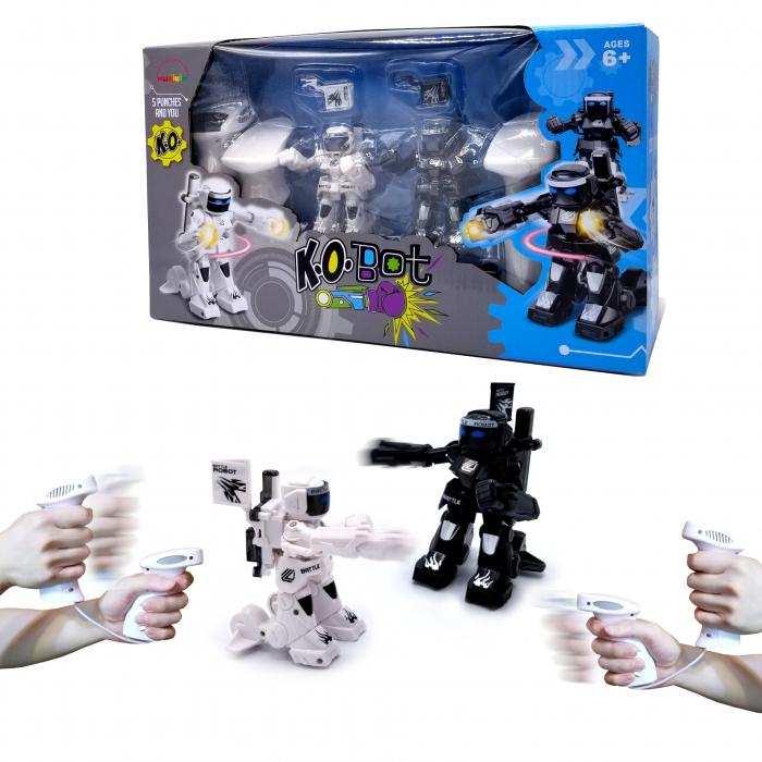 Set de 2 roboți cu telecomandă, pentru copii - KO Bot 0