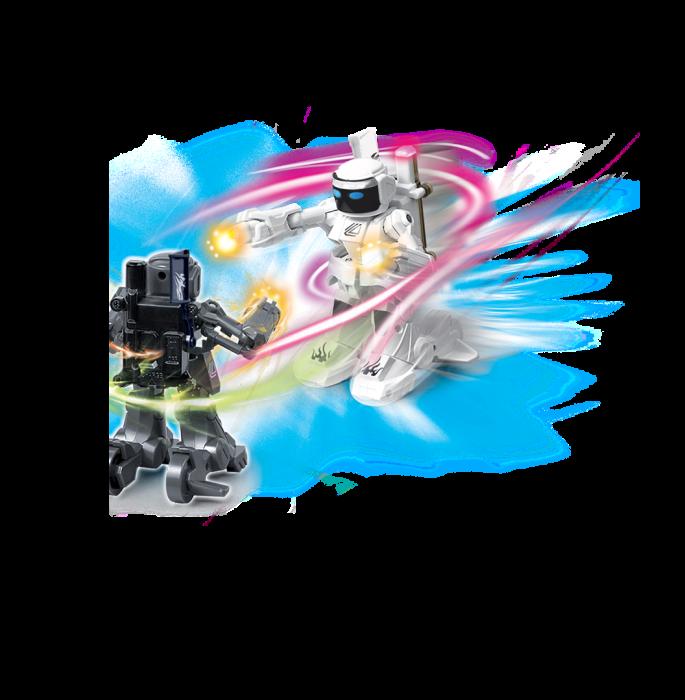 Set de 2 roboți cu telecomandă, pentru copii - KO Bot 1