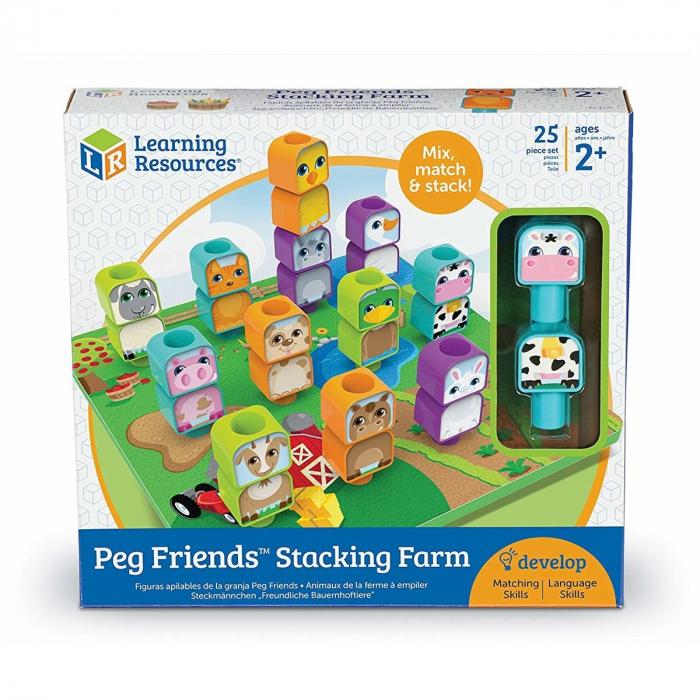 Learning Resources Joc de construcție - Prietenii de la fermă 0