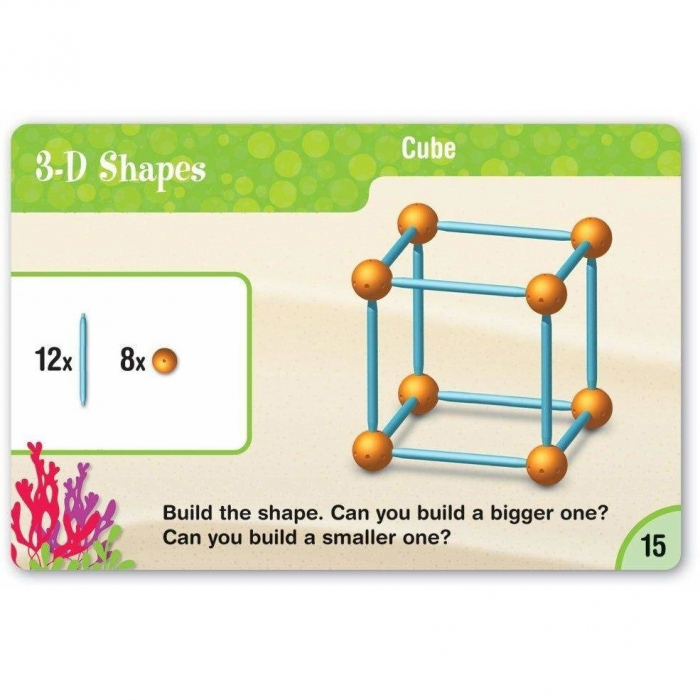 Learning Resources Set construcție - Forme 3D 2