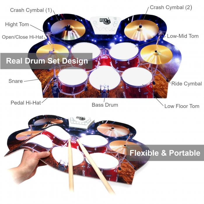 Tobe pentru copii ROCK AND ROLL IT Live drums [2]