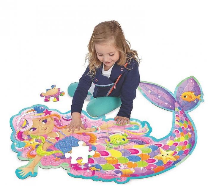 Magical Mermaid - Sirena magică, puzzle mare de podea 1
